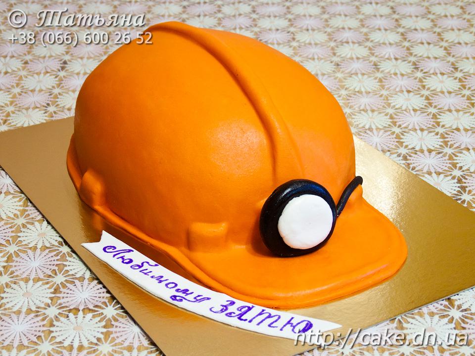 Торт для шахтера из мастики фото